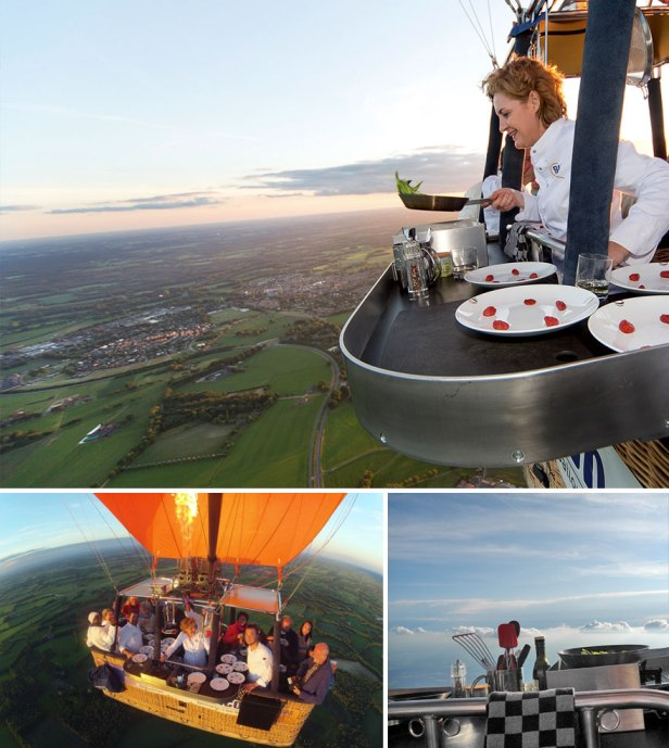 35 Of The World's Most Amazing Restaurants To Eat In Before You Die - World's Only Hot Air Balloon Restaurant, Culiair, Netherlands