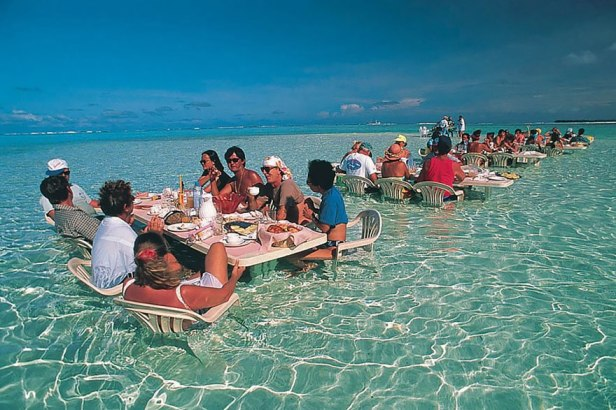 35 Of The World's Most Amazing Restaurants To Eat In Before You Die - Dine In The Water In This Amazing Restaurant In Bora Bora