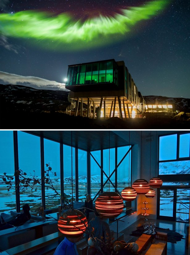 35 Of The World's Most Amazing Restaurants To Eat In Before You Die - Perfect Location To View The Northern Lights - Northern Lights Bar In Ion Hotel, Iceland